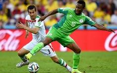 John Obi Mikel xuất sắc nhất trận Nigeria - Iran