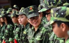 """100 chiến sĩ nhí tham gia """"Học kỳ trong quân đội"""""""