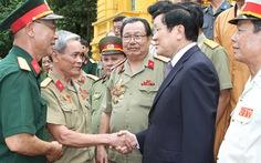 Chủ tịch nước gặp cựu chiến binh Vị Xuyên