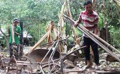 Lâm tặc đốt nhà dân vì nghi báo kiểm lâm bắt xe gỗ