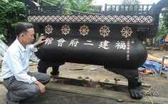 Đúc lư đồng nặng 1,5 tấn