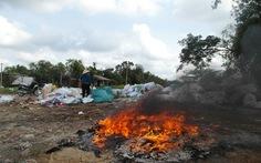 Đốt rác thải, dân thở không nổi