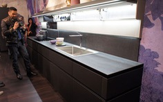Cánh tủ bếp không tay nắm – Xu hướng mới