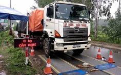Bắt hàng loạt xe chở quá tải