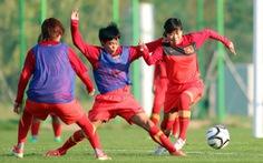 Tuyển nữ VN tập luyện ngay khi đến Hàn Quốc