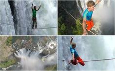 Đi dây qua thác lớn nhất thế giới