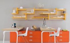 Thiết kế bàn học phòng trẻ lạ và đẹp