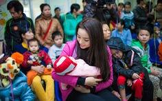 Hoa hậu Kỳ Duyên: Xuân sớm nghĩa tình ở Bệnh viện K