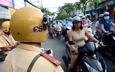 Hết cãi với camera trên mũ CSGT