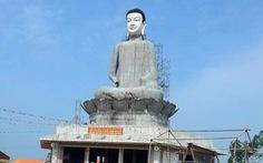 Tượng Phật cao 26m sập do thép không đủ sức chịu đựng