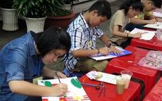Học sinh thi vẽ tranh về tình hữu nghị Việt - Mỹ