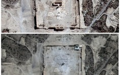 Ảnh vệ tinh cho thấy đền cổ ở Syria đã bị IS phá hủy