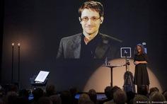 Edward Snowden được trao giải thưởng về tự do ngôn luận