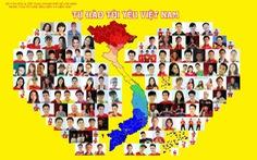Nghe Ánh Viên cùng 100 người hát Tự hào tôi yêu Việt Nam