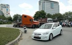 Đề nghị tài xế container tông xe kinh hoàng ra trình diện