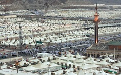 Đi lễ hội hành hương ở thành phố của những túp lều Mina