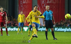Ibrahimovic tỏa sáng mang vé dự VCK Euro 2016 cho Thụy Điển
