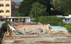 Công trình sập sàn: quản lí đô thị, công an không biết chủ đầu tư