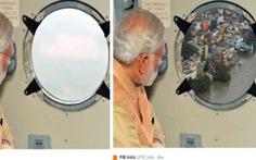 Dân Ấn nổi giận vì ảnh thủ tướng thăm vùng lũ bị chỉnh sửa