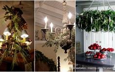 Trang trí đèn chùm hoa quả cho mùa Noel
