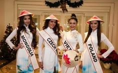 Điểm tin giải trí:Hoa hậu Liên lục địa thi nhau mặc áo dài