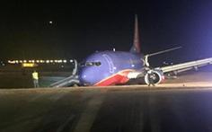 Máy bay Boeing 737trượt khỏi đường băng, 8 người bị thương