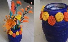 Video: tự làm bình hoa giấy xinh xinh đón tết