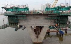 Đúc nhịp dầm đầu tiên cầu metro Sài Gòn