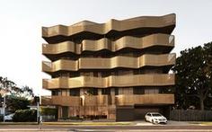 Thiết kế uốn lượn độc đáo của khu căn hộ tại Melbourne