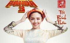 Kungfu Panda 3: Thái Hòa, Tóc Tiên, Hiếu Hiền chụp ảnh mừng xuân