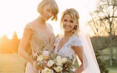 Ngắm trang phục phụ dâu của các saoTaylor Swift,Paris Hilton...