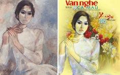 Họa sĩ Lê Việt Hồng đạo tranh của họa sĩ Dương Bích Liên