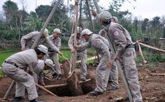 Phát hiện quả bom Mỹ nặng 250kg khi đào giếng