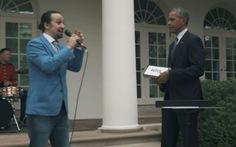 Xem Obamagợi ý cho ca sĩ Lin-Manuel Miranda hát rap