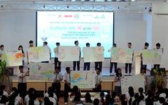 """650 học sinh san sẻ """"nước cho vùng hạn, mặn"""""""