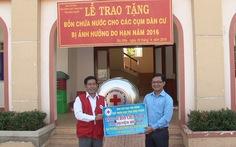 Bình Phước: tặng 100 bồn chứa nước cho vùng hạn nặng