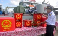 Tàu Bộ Tư lệnh vùng 2ra Biển Đông tổ chức bầu cử