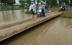 Nước vẫn mênh mông ở khu chung cư Dương Nội