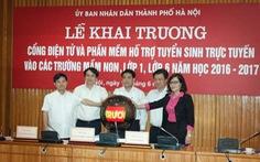 Nghẽn mạng trong tuyển sinh đầu cấp trực tuyến tại Hà Nội