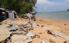 Sạt lở nghiêm trọng bờ biển Kiên Lương