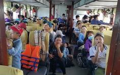Tàu khách đi quần đảo Hải Tặc bán lượng vé quá quy định