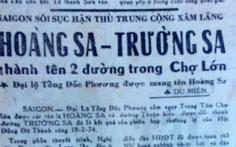 Năm 1974, đường Hoàng Sa và Trường Sa ở Sài Gòn