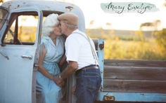 Ông bà chụp ảnh kỷ niệm ngày cưới như phimThe Notebook