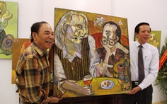 Họa sĩ Nguyễn Đại Giang tặng tranh cho tỉnh Thừa Thiên - Huế