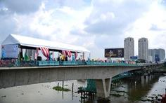 Hợp long cầu vượt sông Sài Gòntuyến metro Bến Thành - Suối Tiên
