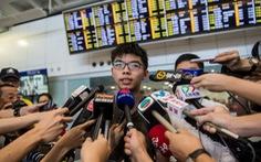Hoàng Chi Phong đã trở về Hồng Kông