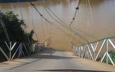 Sập cầu treo Tà Lài bắc qua sông Đồng Nai