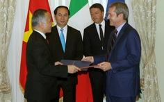 Việt - Ý nâng kim ngạch thương mại lên 6 tỉ USD