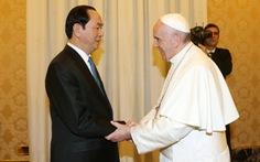 Chủ tịch nước Trần Đại Quang hội kiến Giáo hoàngFrancis
