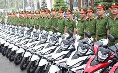 Bình Dương trang bị thêm 100 xe máy cho công an